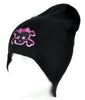 Pink Punk Rock Skull Rockabilly Beanie Knit Cap Alternative Clothing Crossbones Emo