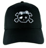 Gray Punk Rock Skull & Crossbones w/ Bow Hat Baseball Cap Alternative Clothing Emo