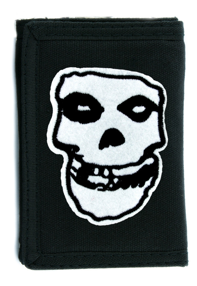 Misfits Skull Tri-fold Wallet w/ Chain Occult Clothing