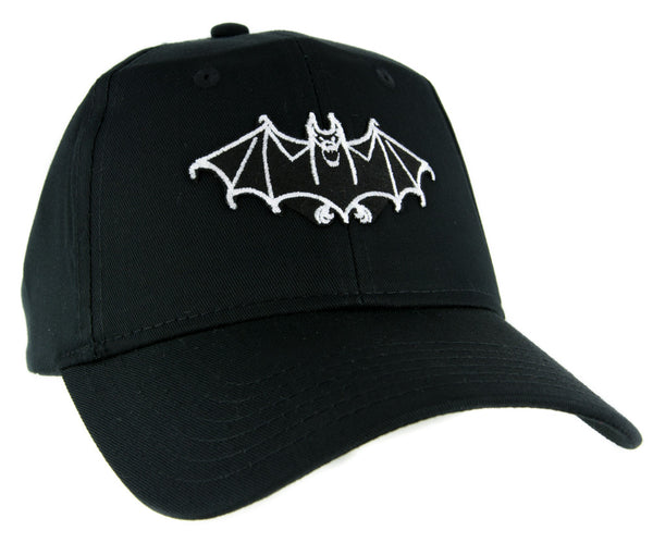 White Vampire Bat Hat Baseball Cap Vlad Dracula Gothic Clothing