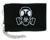 Gas Mask Bio Hazard Sign Tri-fold Wallet w/ Chain Horror Clothing