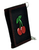 Sexy Rockabilly Cherries Tri-fold Wallet w/ Chain Tattoo Clothing