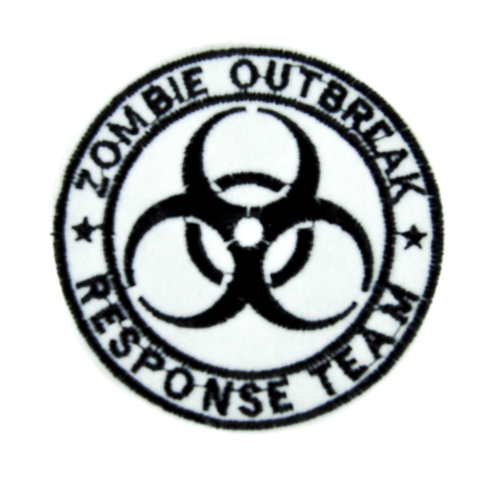 White Zombie Outbreak Response Team Patch Iron on Applique Occult Clothing