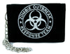 Black Zombie Outbreak Response Team Tri-fold Wallet with Chain