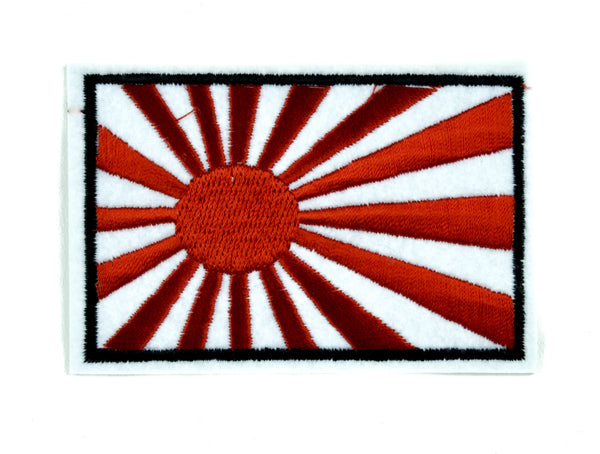 Japanese Rising Sun Patch Iron on Applique Anime Clothing