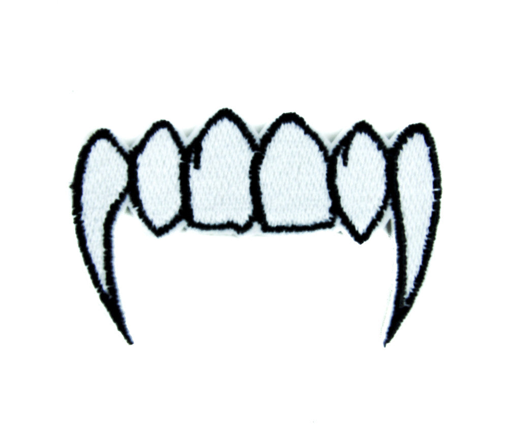 Vampire Fangs Patch Iron on Applique the Strain