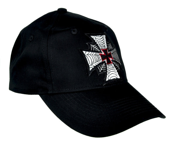 Spider Web Iron Cross Hat Baseball Cap Occult Alternative Clothing