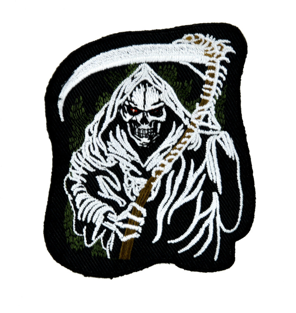 Grim Reaper Death Patch Iron on Applique Heavy Metal Clothing