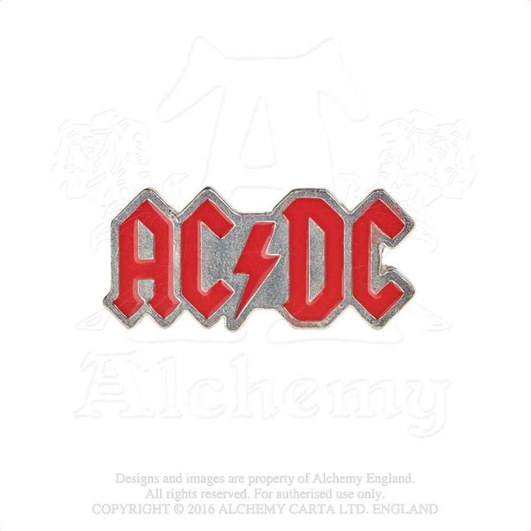 Alchemy Gothic Rocks AC/DC Enamel Logo Lapel Pin Lightning Bolt