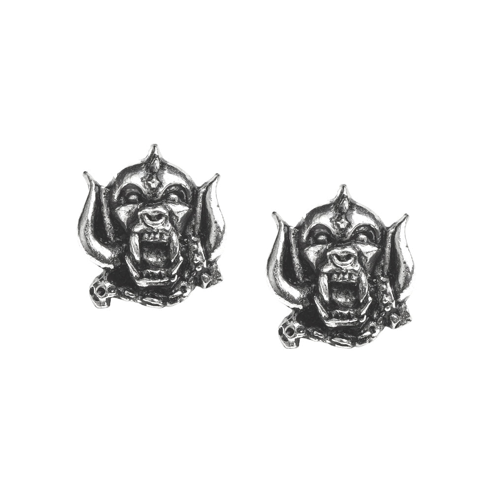 Alchemy Gothic Motorhead Warpig Studs Earrings