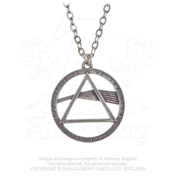 Alchemy Gothic Rocks Pink Floyd Dark Side Prism Pendant Necklace