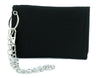 White Inverted Cross Tri-fold Wallet Black Metal Occult