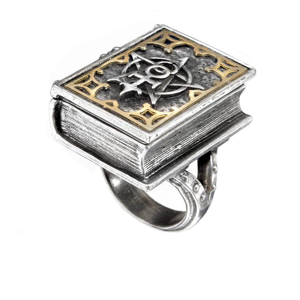 Alchemy Gothic Occult Dee's Book of Angel Magic Ring