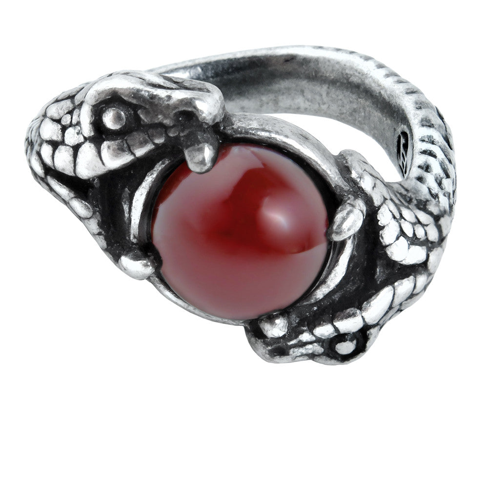 Alchemy Gothic Viperstone Snake Serpant Ring