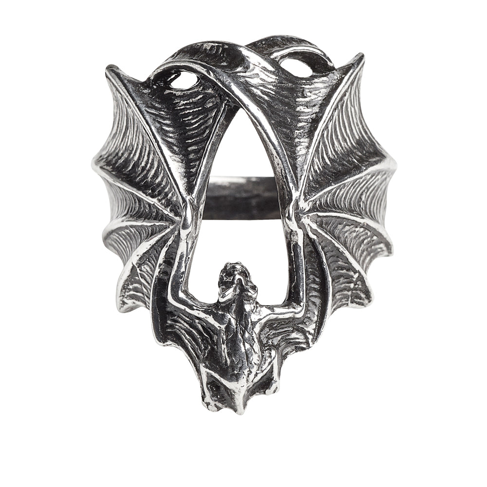 Alchemy Gothic Stealth Vampire Bat Ring