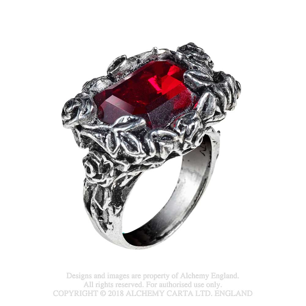 Alchemy Gothic Blood Rose Ring