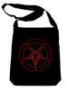 Red Sabbatic Baphomet Crossbody Sling Bag Inverted Pentagram Occult