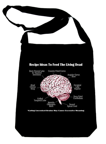 Cooking Human Brain Recipes Ideas Sling Bag Zombie Eating Walking Dead Handbag