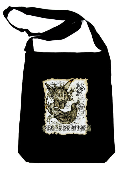 Necronomicon Demon Crossbody Sling Bag Book of the Dead Occult