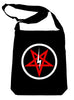 Inverted Pentagram Lightning Bolt Crossbody Sling Bag Occult