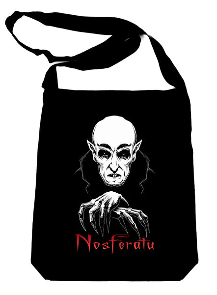 Nosferatu 1922 Vampire Count Orlok Sling Bag Tote Dracula Gothic Alternative Clothing Book Bag