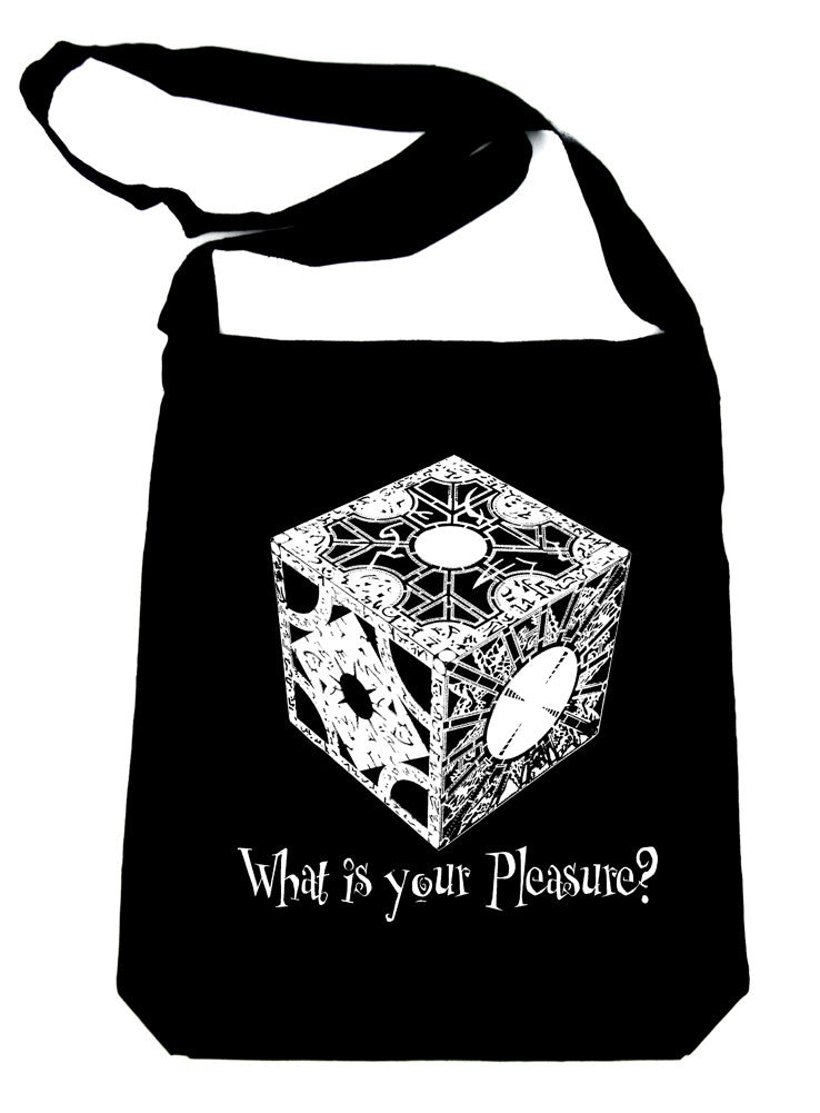 "Hellraiser Puzzle Box ""What is your Pleasure?"" Crossbody Sling Bag Pinhead Horror"