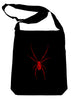 Red Black Widow Spider Crossbody Sling Bag Horror Spooky Occult