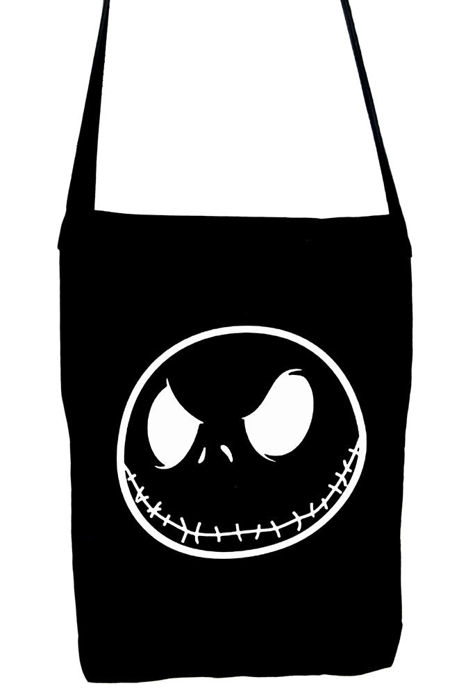 negative jack skellington face crossbody sling bag nightmare before christmas - Jack From Nightmare Before Christmas