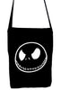 Negative Jack Skellington Face Crossbody Sling Bag Nightmare Before Christmas