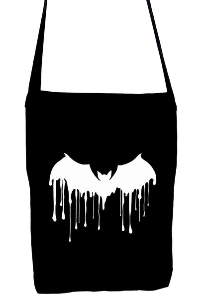 Drip Melting Vampire Bat Crossbody Sling Bag Dracula