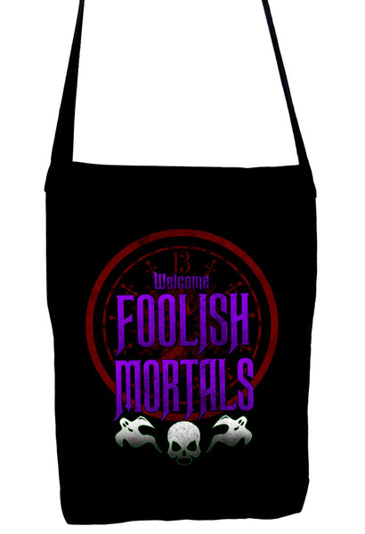 Welcome Foolish Mortals Crossbody Sling Bag Haunted Mansion