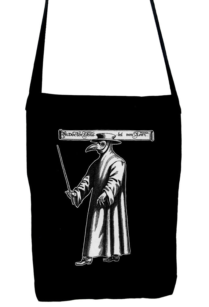 Black Death Plague Mask Crossbody Sling Bag with Bird Mask