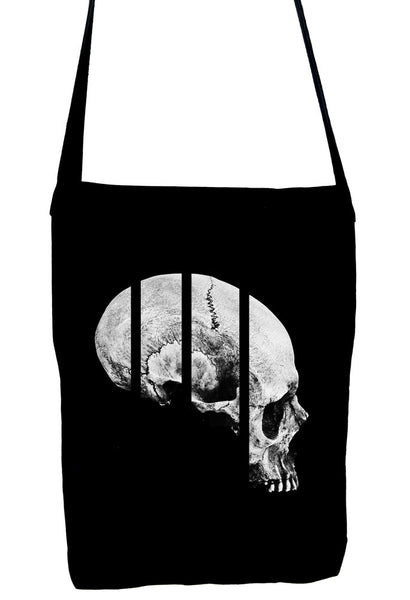 Medical Oddities Human Skull Sling Bag Occult Clothing Book Bag