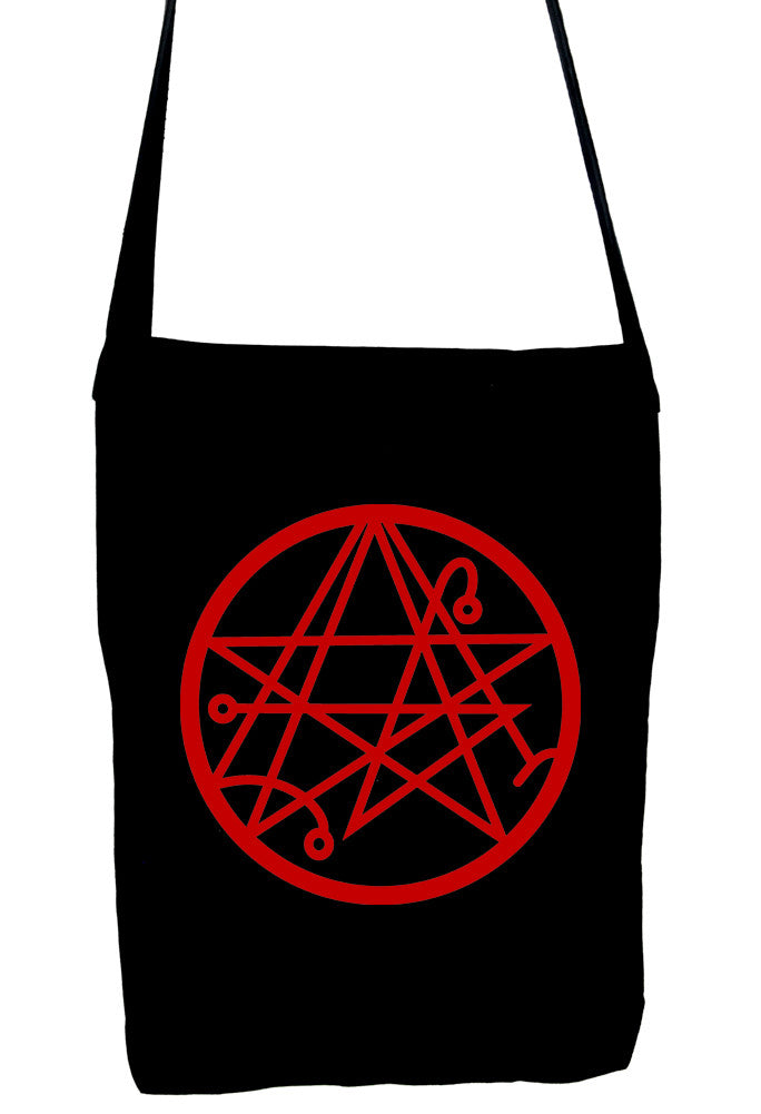 Necronomicon Gate Alchemy Symbol Sling Bag Occult Clothing HP Lovecraft Book Bag