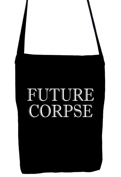 Future Corpse Sling Bag Alternative Clothing Book Bag Cemetery Funeral