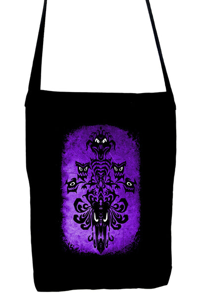 Haunted Mansion Wallpaper Ghoul Crossbody Sling Bag Dark Alternative