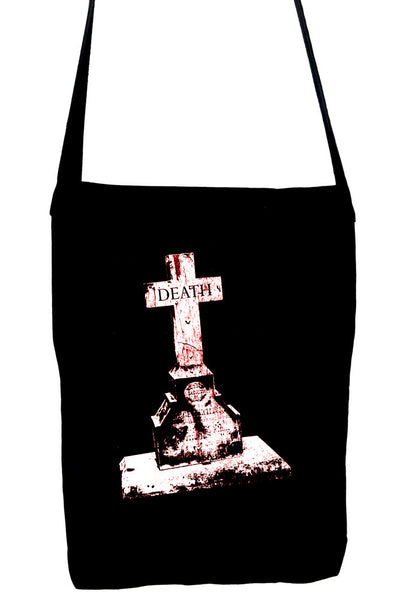 Tombstone of Death Cemetery Crossbody Sling Bag Dark Alternative