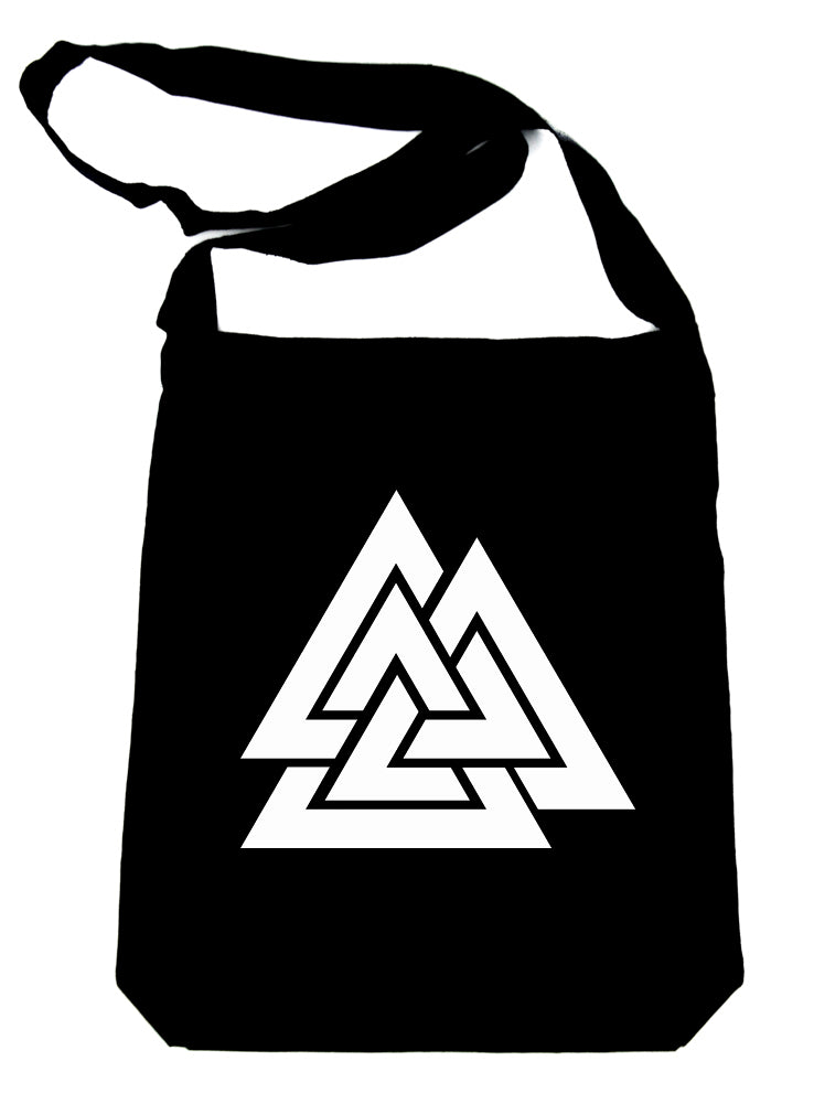 Norse Triangle Knot Crossbody Sling Bag The Valknut Odin's Slain Warriors