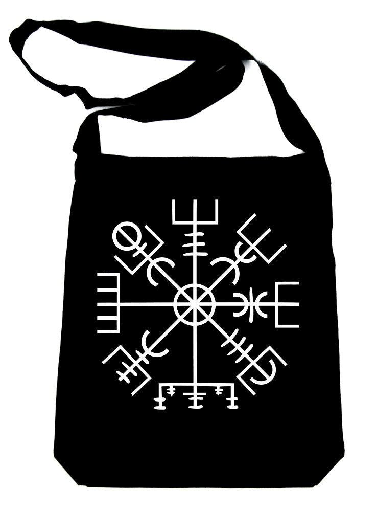 Vegvisir Viking Compass Symbol Crossbody Sling Bag Viking Old Norse