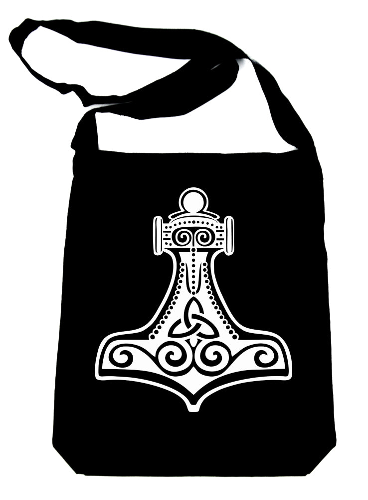 Mjolnir Thor's Hammer Cross Body Sling Bag Norse Viking God