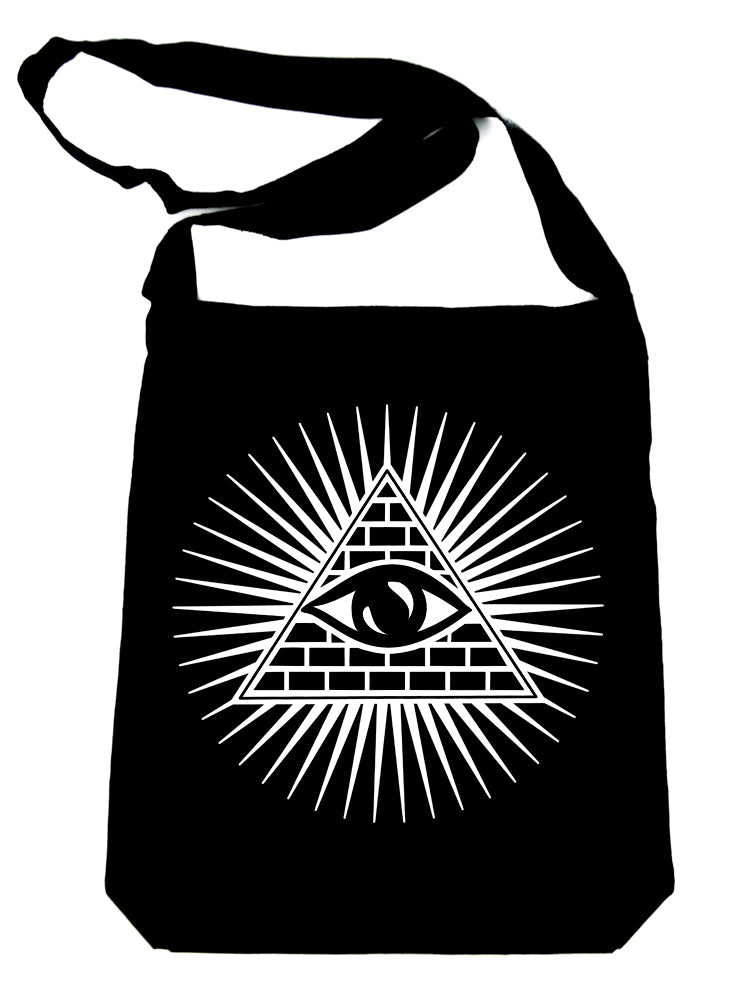Pyramid w/ All Seeing Eye Crossbody Sling Bag