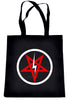 Inverted Pentagram Lightning Bolt Tote Bag Book Handbag Occult