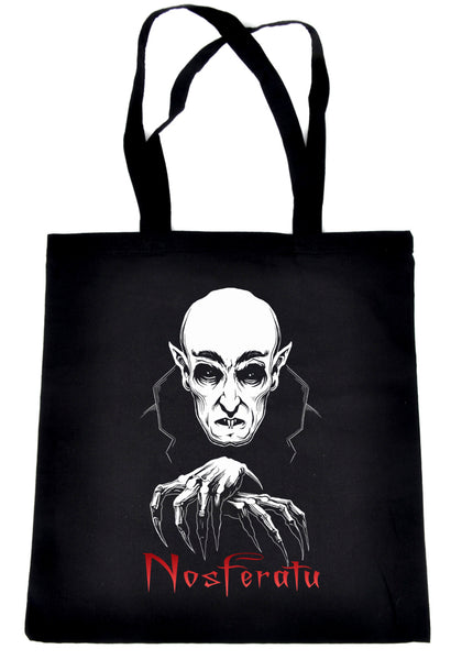 Nosferatu 1922 Vampire Count Orlok Tote Bag Dracula Gothic Alternative Clothing Book Bag