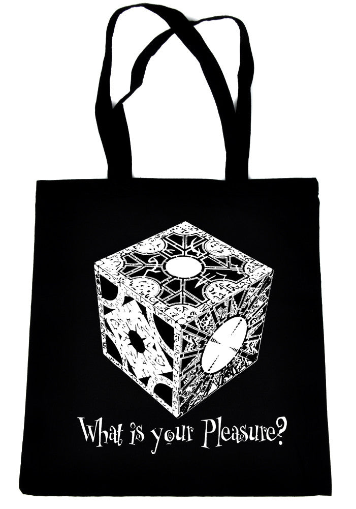 "Puzzle Box ""What is your Pleasure?"" Tote Book Bag Hellraiser Pinhead Horror Handbag"