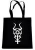 Inverted Horned Pentacross Tote Book Bag Occult Ritual Pentagram Handbag