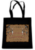 Ouija Board Grim Reaper on Black Tote Book Bag Occult Ritual Handbag