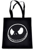 Negative Jack Skellington Face Tote Book Bag Nightmare Before Christmas Handbag
