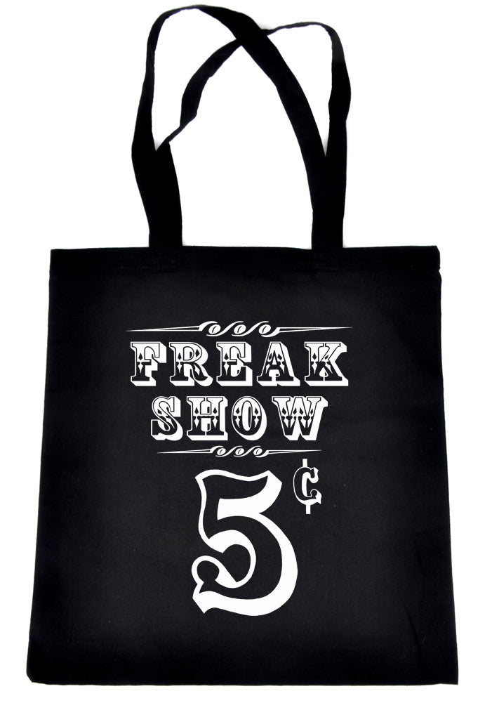 Freak Show Poster Tote Book Bag Carnivale Circus Side Show Handbag