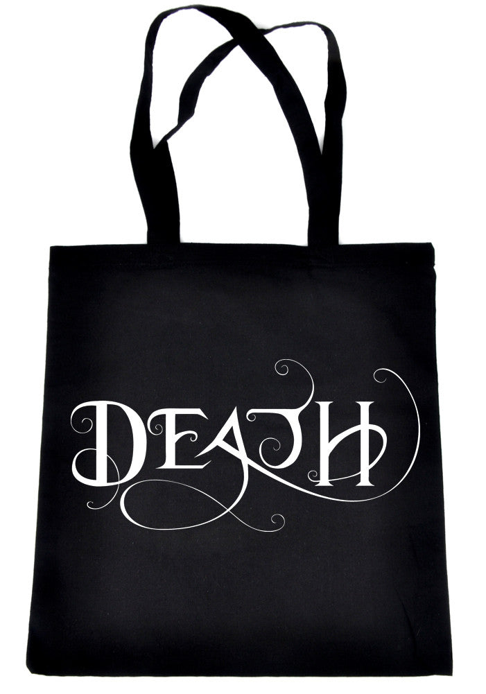 Death Being the End Tote Book Bag Sandman Handbag Gothic