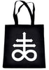 Crux Satanus Leviathan Cross Tote Book Bag Black Sulphur Handbag